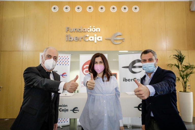 Firma renovación convenio AJE Zaragoza con Ibercaja y Fundación Ibercaja