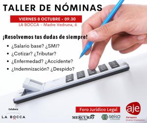 Foro Jurídico-Legal de AJE Zaragoza: Taller de Nóminas